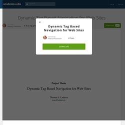 Dynamic Tag Based Navigation for Web Sites