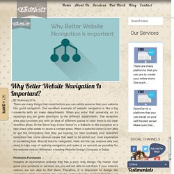 Why better website navigation is important? - Whitehats Design