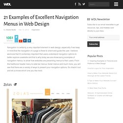 21 Examples of Excellent Navigation Menus in Web Design