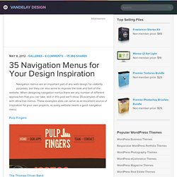 35 Navigation Menus for Your Design Inspiration