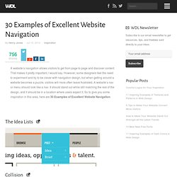 30 Examples of Excellent Website Navigation