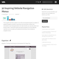 30 Inspiring Website Navigation Menus