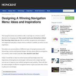 Designing A Winning Navigation Menu: Ideas and Inspirations