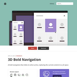 3D Bold Navigation in CSS and jQuery