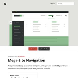 Mega-Site Navigation in CSS and jQuery