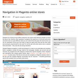 Navigation in Magento online stores