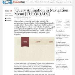 jQuery Animation in Navigation Menu [TUTORIALS]