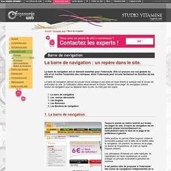 Barre de navigation web : pour naviguer sur un site web en toute liberté