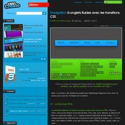 Navigation à onglets fluides avec les transitions CSS - Créer un menu avec display: table-cell