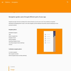 Navigation - Patterns - Material design guidelines