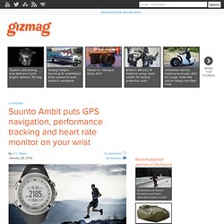 Suunto Ambit puts GPS navigation, performance tracking and heart rate monitor on your wrist