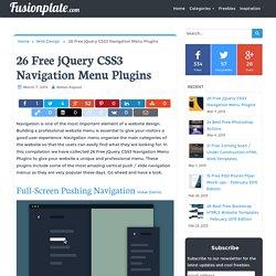 26 Free jQuery CSS3 Navigation Menu Plugins - Fusionplate.com