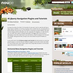 45 jQuery Navigation Plugins and Tutorials
