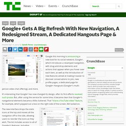 Google+ Gets A Big Refresh With New Navigation, A Redesigned Stream, A Dedicated Hangouts Page & More