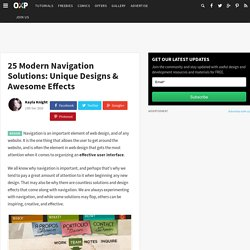 25 Modern Navigation Solutions: Unique Designs & Awesome Effects