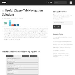 11 Useful jQuery Tab Navigation Solutions