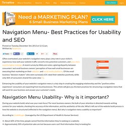 Navigation Menu Best Practices for Usability and SEO