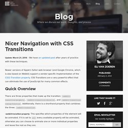 Nicer Navigation with CSS Transitions - GetHiFi