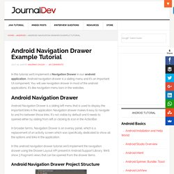 Android Navigation Drawer Example Tutorial - JournalDev