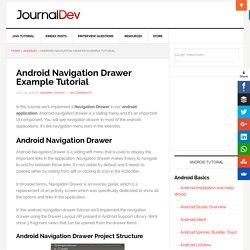 Android Navigation Drawer Example Tutorial - JournalDev