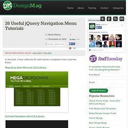 25 jQuery Tutorials for Improved Navigation Menus