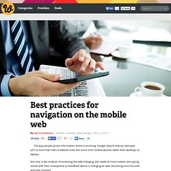 Best practices for navigation on the mobile web
