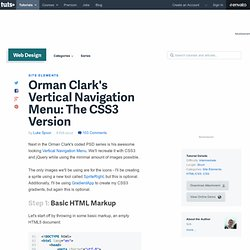 Orman Clark's Vertical Navigation Menu: The CSS3 Version