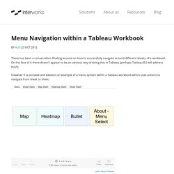 Menu Navigation within a Tableau Workbook - InterWorks UK Blog