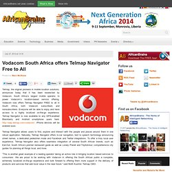 Vodacom South Africa offers Telmap Navigator Free to All
