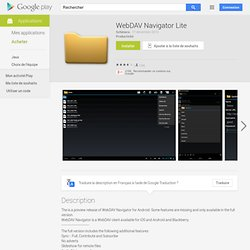 WebDAV Navigator Lite