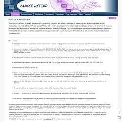 NAViGaTOR - Network Analysis, Visualization, & Graphing TORonto