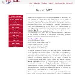 Navratri 2017 Dates - Chaitra Navratri 2017 - Sharad Navratri Dates