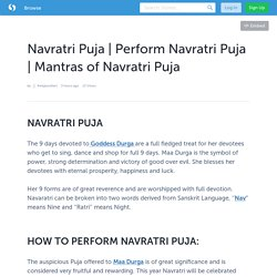 Mantras of Navratri Puja
