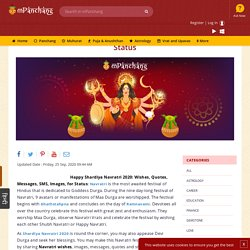 Send amazing Happy Navratri wishes, messages, quotes, texts, status for whatsapp, and Facebook. Get free DurgaPuja wishes with images.