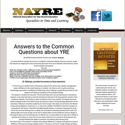 NAYRE - Common Questions