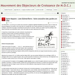 Saint-Nazaire : Lien ElémenTerre : faire (re)naître des jardins en ville