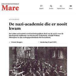 De nazi-academie die er nooit kwam » Mare Online -
