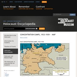 Map of Nazi concentration camps, 1933-1934