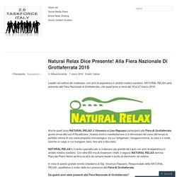Natural Relax Dice Presente! Alla Fiera Nazionale Di Grottaferrata 2016