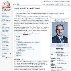 Nazir Ahmed, Baron Ahmed