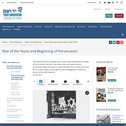 Rise of the Nazis and Beginning of Persecution