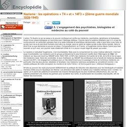 Nazisme : les opérations «T4» et «14F3» (2ième guerre mondiale 1939-1945)