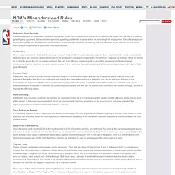 NBA.com - NBA's Misunderstood Rules