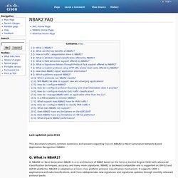 NBAR2:FAQ