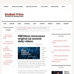 NBCNews announces original 15-second daily videos