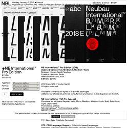 NBL — NB International™ Pro Edition
