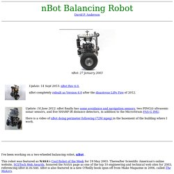 nBot, a two wheel balancing robot