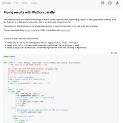 Piping results with IPython parallel