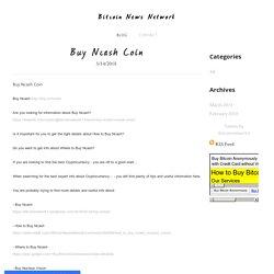 Buy Ncash Coin - Bitcoin News Network