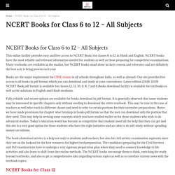 NCERT Books for Class 6 to 12 - All Subjects - CBSE Astra